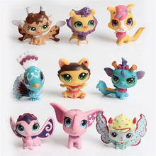 1pcs littlest pet shop doll action toys figures pvc puppets kids small animal toys pet toys catoon model figures random