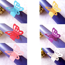 50 Pcs/Lot New Arrival Butterfly Napkin Ring Personalized Napkin Buckle Towel Button Wedding Hotel Decoration Supplies(China)