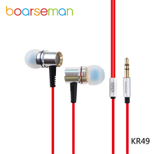 Boarseman KR49 Wired Earphone Sport Running In-ear 3.5mm Earbuds KR49 HIFI Headset For Meizu mx5 NOTE Hammer T1 Letv 1 pro(China)