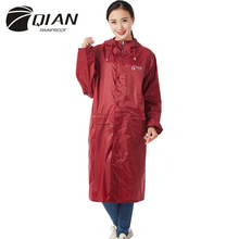 QIAN RAINPROOF Impermeable Long Style Raincoat Adults Waterproof Trench Coat Poncho Rain Coat Female Rainwear Rain Gear Poncho