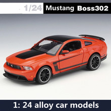 1: 24 alloy car models,high simulation Mustang sports car,metal diecasts,freewheeling,the children's toy vehicles,free shipping(China)