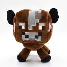 16cm Minecraft Plush Toys High Quality Minecraft Brown Cow Plush Toys Doll Stuffed Animals Toys Baby Cow Soft Toy Gift