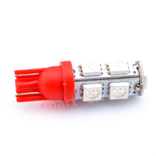 500pcs/lot in stocks wholesales Car led light 194 w5w 9smd T10 9 led Smd 5050 white,blue,red,yellow green Free shipping(China)