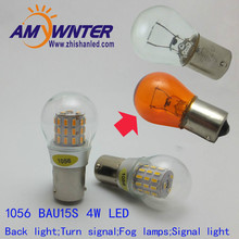 1056 Auto bulbs PY21W S25 led 3014 smd Car Tail Bulb Turn signal auto Reverse Lamp Daytime Running Light Amber white yellow
