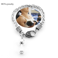 The dumbbell Bracelets & Bangles Kettle bell Bracelet for men women jewelry Fitness Coaches Fitness Participants Gift