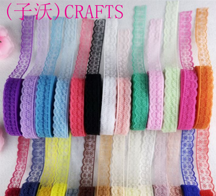 10 yards 20mm wide lace ribbon, DIY clothing, jewelry decoration 27 colors