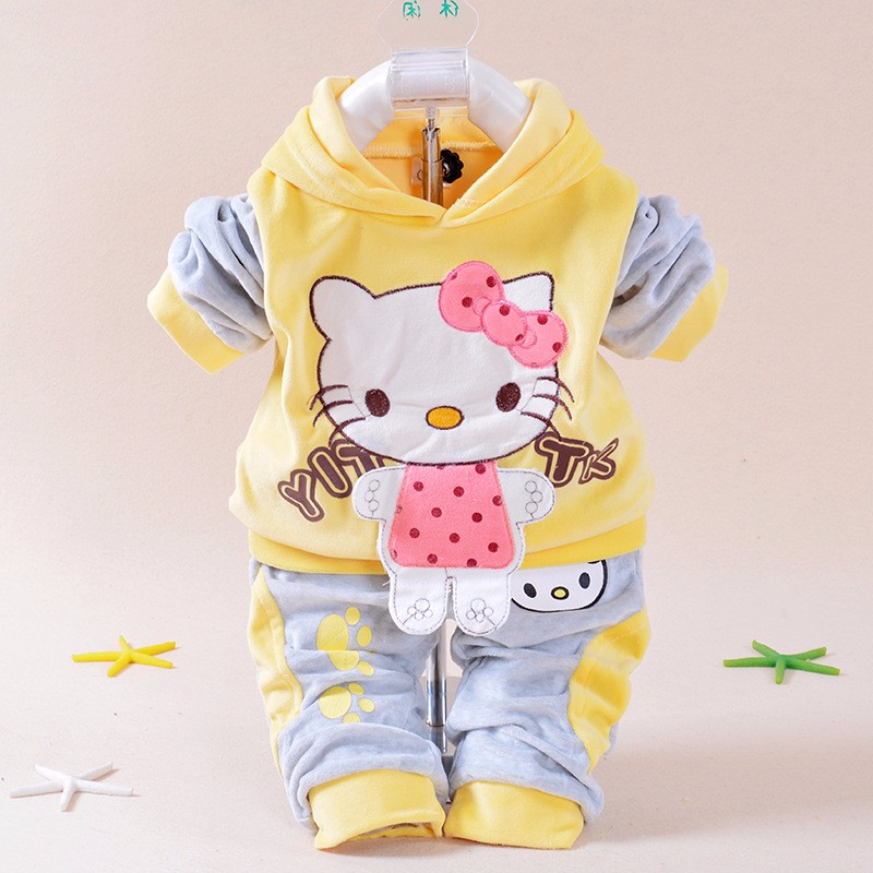 Fashion infant girl baby clothes long sleeve kids girl sweatshirt pullover + pants 2 pcs baby girl hoodie set<br><br>Aliexpress