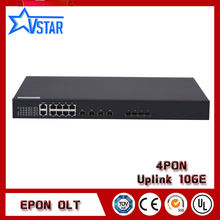 FTTH Solution EPON OLT 4PON Ports 1U OLT device compatible with HUAWEI ZTE BDCOM ONU