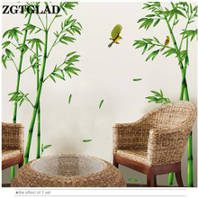 Green Bamboo Forest Wall Stickers Vinyl DIY Decorative Mural Art for Living Room Cabinet Decoration Home Decor