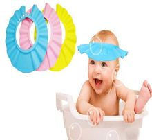 2016 Hot Adjustable EVA Soft Baby Shampoo Shower Cap Baby Care Bath Protection For Kid