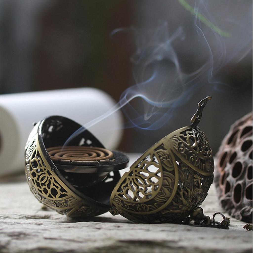 Lovoski Chinese Dragon Hanging Backflow Incense Burner Bedroom ~Bronze