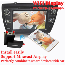 TV stick Combinate Smart Phone With Car Screen Dual-band WIFI Display Use for  GPS Navigation Watch TV Listen to Music