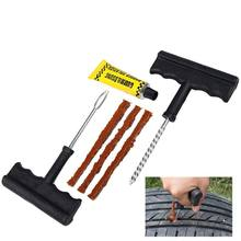 2017 New Car Tire Repair Tool Kit For Tubeless Emergency Tyre Fast Puncture Plug Repair Block Air Leaking For Car Truck Motobike(China)