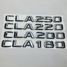 Chrome ABS CLA180 CLA200 CLA220 CLA250 Trunk Rear Bumper Numbers Letter Badge Emblem Logo For Mercedes Benz CLA Class AMG