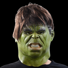 The Hulk Masks Superhero Movie Cosplay Halloween Realistic Full Face Latex Mask Adult Costume Props Toys(China)