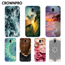 CROWNPRO TPU Case FOR Samsung J3 2017 Case Cover Soft Silicone Back FOR Samsung Galaxy J3 7 2017 J330 J330F Mobile Phone Cases(China)