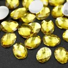 350PCS/LOT 8x6mm citrine Oval round Rhinestones Nail Art Crystals Acrylic Non Hotfix Flat back glitters for DIY jewelry Stone