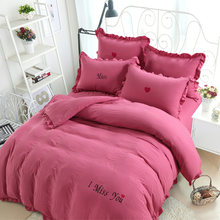 Free Shipping Modern Style Polyester and Cotton Duvet Cover Set Bed Sheet Pillowcase King Size Super Soft Bedding Sets SHX02(China)