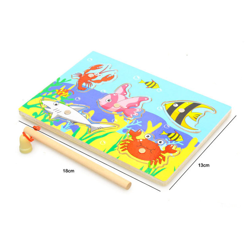 Kid Wooden Magnetic Fishing Game Puzzle 7
