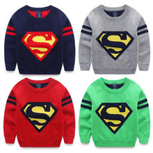Roupas infantis kerst trui camisola menina boys jumper pattern sweaters for kids superman knitwear strpes sleeve pullover KD007