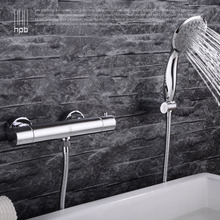 HPB Wall Mounted Thermostatic Bathroom Bathtub Faucet Hot Cold Water Bathtub Mixer Tap Shower Head torneira banheiro HP6101