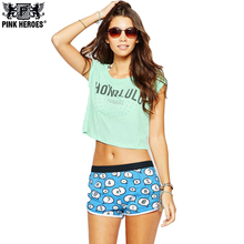 PINK HEROES Women Underwear Panties Fashion Cartoon Printing Home Women Underwear Cotton Plain Weave Pants Sexy Panties2017 Hot(China)