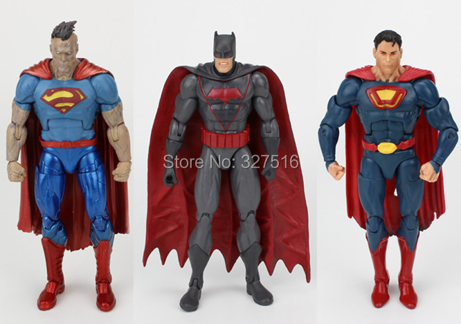 3PCS/SET Genuine Figures Toy Anime The New 52 Justice League Superman/Batman Action Figure Toys Childrens Toys Free Shipping<br><br>Aliexpress
