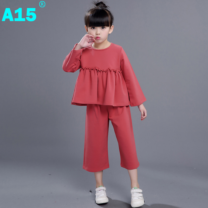 A15 Girls Clothes Children Clothing 2017 Spring Summer Autumn Brand Toddler Girl Clothing Set 2pc Kids Clothes Age 6 8 9 10 Year<br><br>Aliexpress