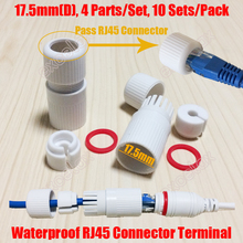 10PCS/Lot Finished RJ45 Modular Waterproof Connector Cap Terminal Cover Shell Inner 17.5mm for Outdoor Network IP Camera Cable(China)