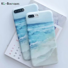 KL-BOUTiQUES Endless Sea Case for Coque iphone 6 for iphone 7 6 6S Plus Cases Rolling Waves Golden Beach Silicon Cover Men Women
