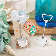 50pcs/lot Sand Shovel Beach Theme Metal Beer Bottle Opener Wedding Return Gifts for Guests