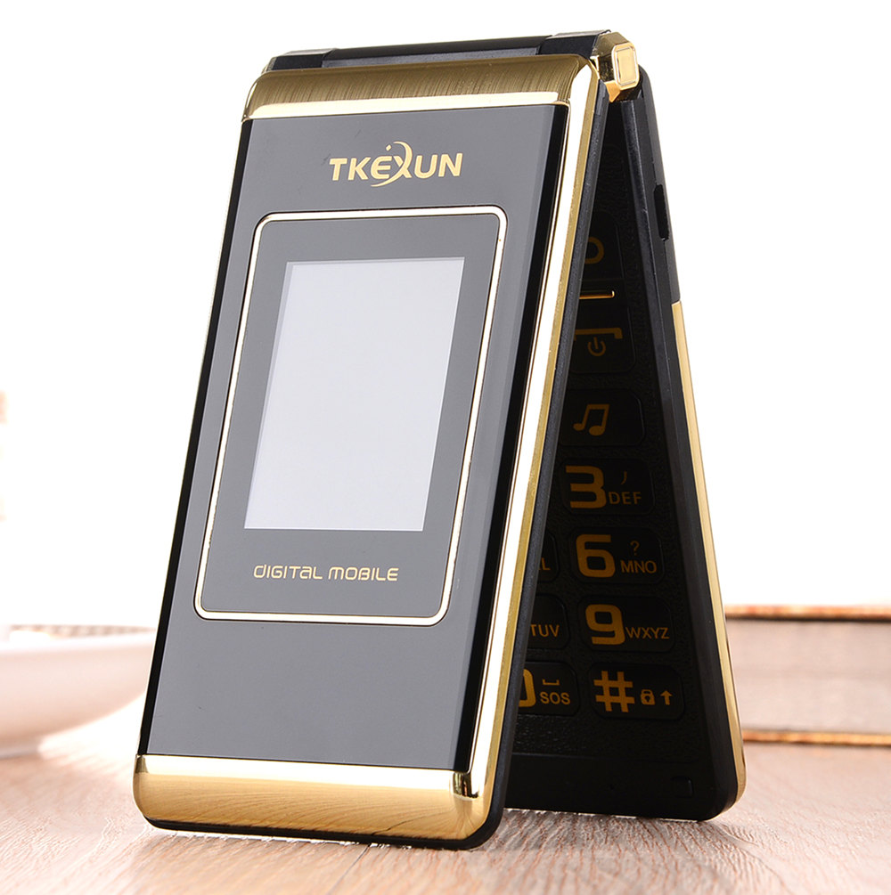 "3.0"" dual Screen cell phones Dual SIM FM senior touch flip cheap gsm china mobile phone russian keyboard button TKEXUN(China (Mainland))"