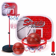 Basketball Hoop Set Adjustable Height 120CM Activity Sport Game Toy Basketball Stand Goal Holder Rack Kids Fitness Equipment