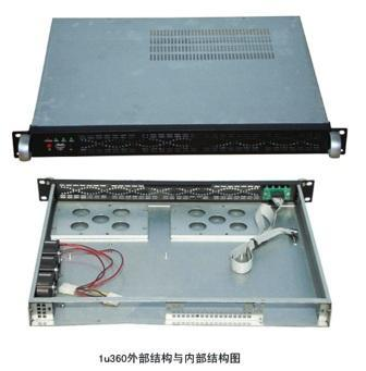 1U360 chassis 360MM long 1U industrial control cabinet monitoring cabinet<br>