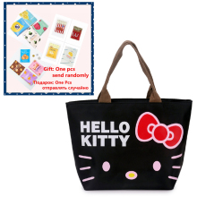 lovely hello kitty Women Casual shopping bag Cartoon handbags oxford tote mummy bag picnic bag 4 colors(China)