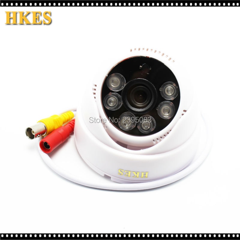 HKES HD 1200TVL 6PCS IR-LEDs 3.6mm lens with IR Cut CCTV Camera Home Security Day/Night Indoor Camera<br><br>Aliexpress
