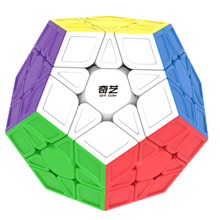 Qiyi QiHeng S MEGAMINX Magic Cube Speed Cubes for Beginers Speed Cubes Puzzle Toys For Kids- Colorized