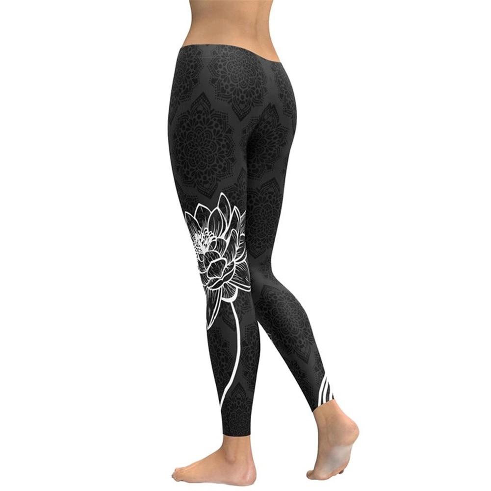 Sin Pantalones Negro Compre Leggins De Lotus Yoga Impresas Costuras f67byg