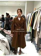 Korean Fashion Clothing For Women Winter 2017 Double Cashmere Coat 100% Wool Overcoat Oversized Long Camel Jacket Hot Sale
