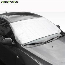 Onever Window Aluminum Foil Sun Shade Car Windshield Visor Cover Block Front Window Sunshade UV Protect Car Window Film 150*70cm