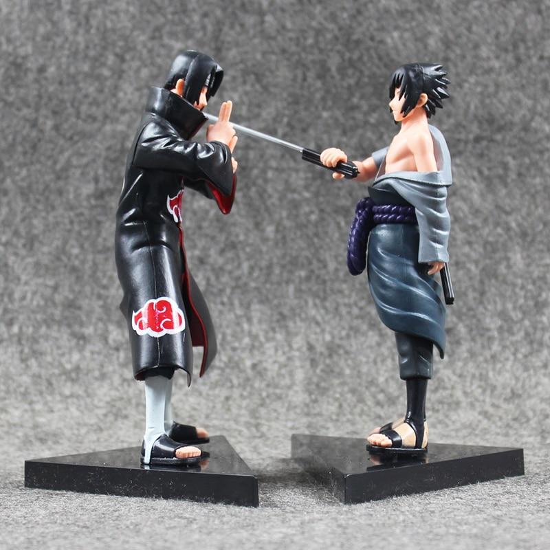 16cm 2pcs/lot Hot Anime Naruto Uchiha itachi &amp; Uchiha Sasuke PVC Action Figure Model Toys Doll Great gift<br><br>Aliexpress