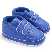 Soft Baby boy Shoes skid-proof Infant First Walkers Lovely Toddler Booties autumn spring PU shoes(China)