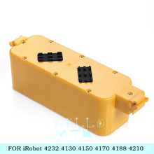 14.4V 4500mah NI-MH For iRobot Roomba 400 replacement vacuum battery pack for iRobot 4232 4130 4150 4170 4188 4210