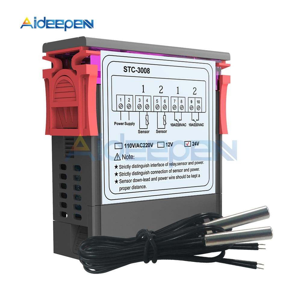 STC-3008 AC 110-220V Digital Temperature Controller Thermostat Instrument NTC