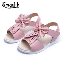 Buy Size22-37 cute children shoes girls sandals Summer 2017 New Bow beach Shoes kids Girls Fashion casual Princess flat shoes for $6.51 in AliExpress store