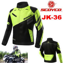 2017 Summer New SCOYCO men mesh Motorcycle riding Jacket knight Crash proof suit Motorbike reflector jackets Fluorescent green
