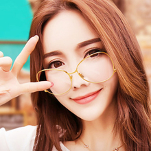 WELUK Clear lens Flat light glasses fashion metal steel ball