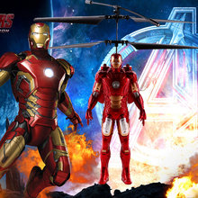 Suspension Induction Flight The Avengers Iron Man Remote Induction Control Helicopter  Induction Charging Lighted Toys Kids Gift