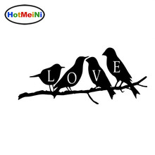 HotMeiNi Flying Animal Love Birds on Tree Car Stiker for Motorhome RV Minicab SUV Car Decor Waterproof Vinyl Decal 10 Colors(China)