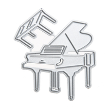 DIY Piano Craft Embossing Metal Cutting Dies Stencil for Scrapbooking Photo Album Decorative Paper Card Cutter